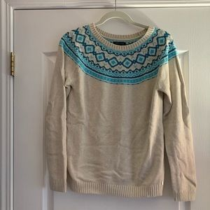 Tommy Hilfiger cream and blue patterned sweater